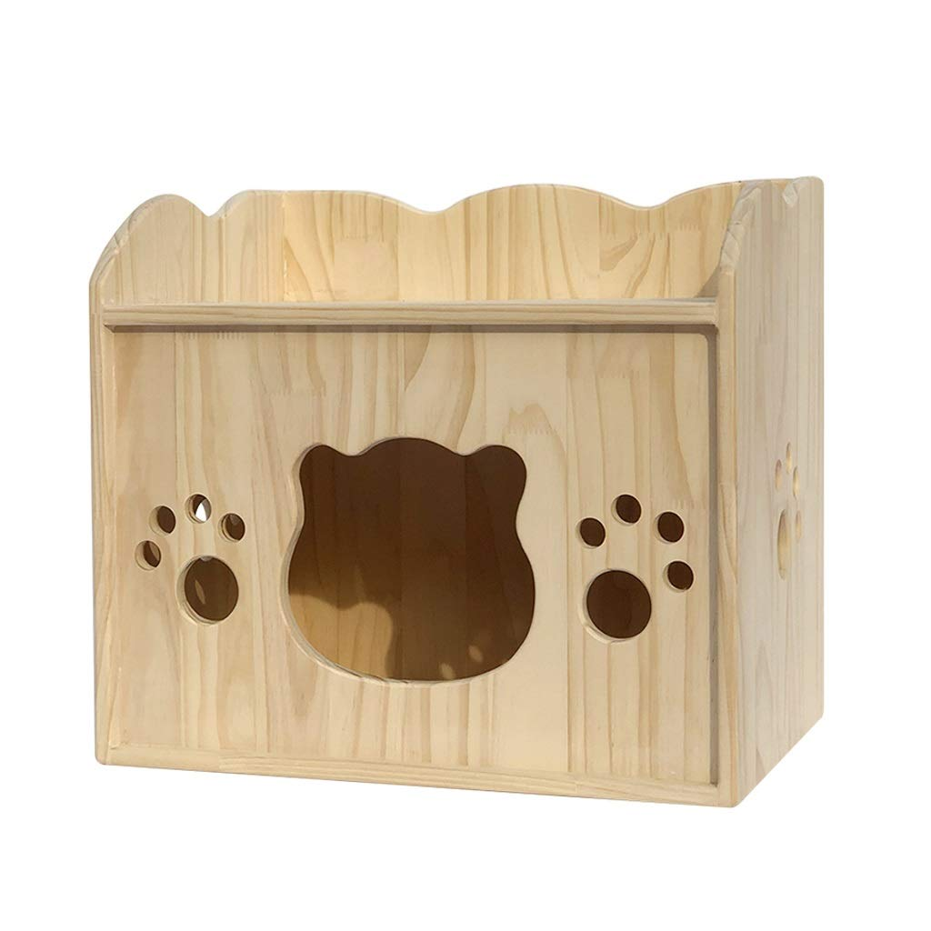 JIANXIN Pet Nest, Solid Wood Cat Litter, Cat Delivery Room, Suitable for All Kinds of Cats, Four Seasons