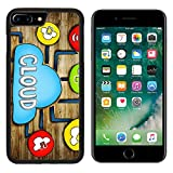 Luxlady iPhone 7 plus Case iPhone 8 plus Case TPU Silicone Bumper Shockproof Anti-Scratch Resistant Hard Tempered Glass Cover IMAGE ID: 34402076 Aerial View of People and Cloud Computing Concepts