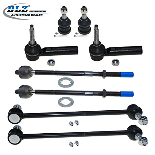 DLZ 8 Pcs Front Suspension Kit-2 Lower Ball Joint 2 Outer 2 Inner Tie Rod End 2 Sway Bar Compatible with 2001-2004 Chrysler Town & Country 2001-2003 Chrysler Voyager 2001-2004 Dodge Caravan EV405