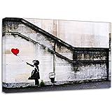 Banksy Balloon Girl 3 Wall Graffiti Canvas Art Print Poster