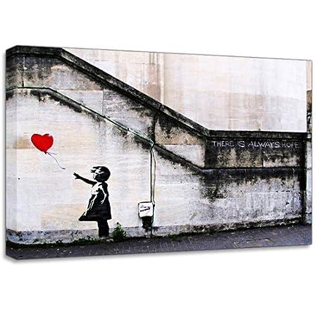 Banksy Balloon Girl  Wall Graffiti Canvas Art Print Poster