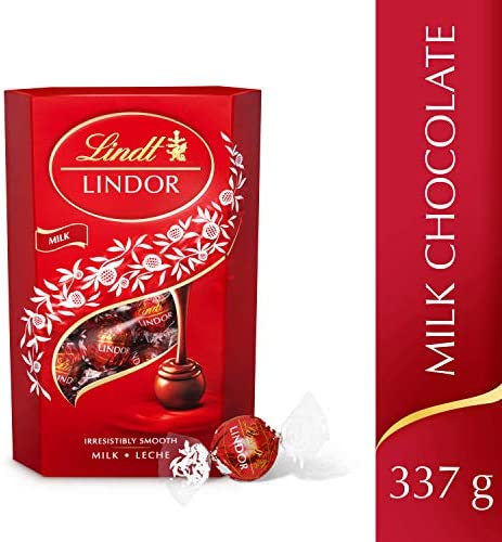 Lindt Lindor Milk Chocolate Truffles Box Approximately 26 Balls 337 G Ideal For Gifting Or Sharing Chocolate Balls With A Smooth Melting