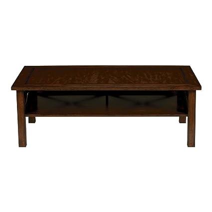 Astonishing Amazon Com Ethan Allen Dexter Solid Wood Coffee Table Java Lamtechconsult Wood Chair Design Ideas Lamtechconsultcom