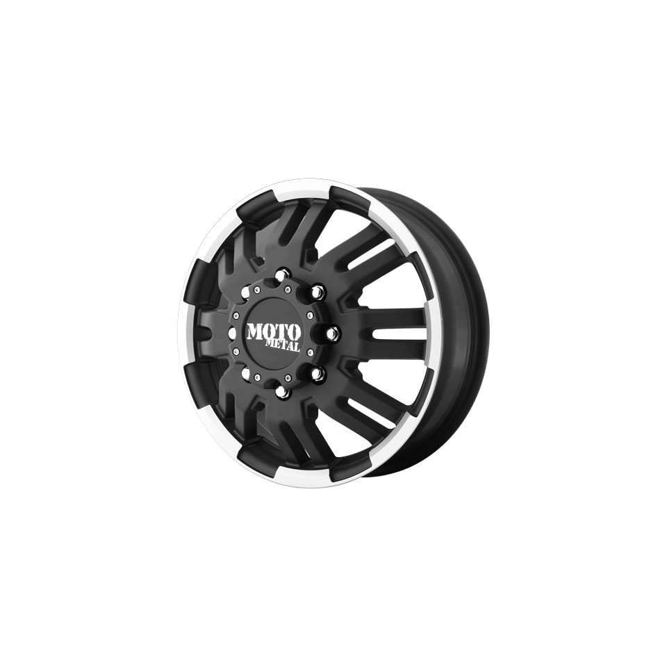 16x6 Moto Metal MO963 Dually (Matte Black / Machined) Wheels/Rims 8x165.1 (MO96366080799) Automotive