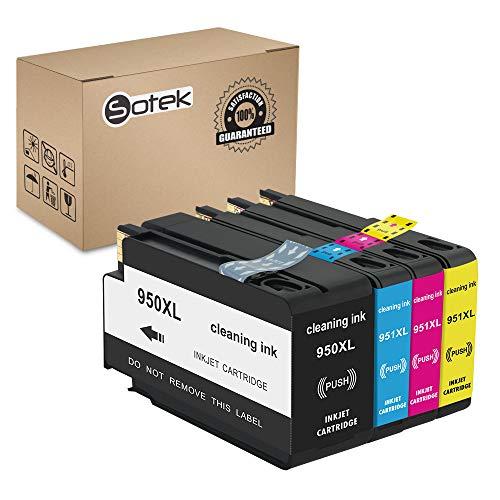 Sotek Cleaning Ink Cartridges 950 951 for Officejet Pro 8600 Printhead Officejet Pro 8610 Printhead Officejet Pro 8620 Printhead Officejet Pro 8630 Printhead (1 Set)