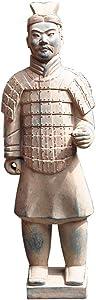 LIUSHI Terracotta Warrior Statue, Garden Ornament Terracotta Army Statue Chinese Terracotta Warriors The Large Standing Terracotta Army