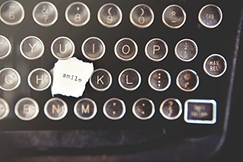 Smile Note on Antique Manual Typewriter Photo Art Print P...
