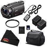 Sony 4K HD Video Recording FDRAX33 Handycam Camcorder-Starter Bundle w/Accessories