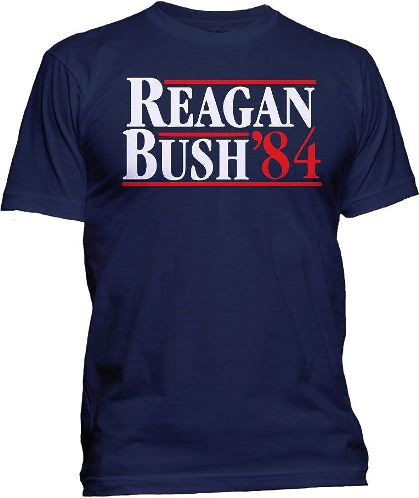 Camiseta de Manga Corta para Hombre, diseño de Reagan Bush de 84 Pulgadas, Color Azul, Talla L: Luconic: Amazon.es: Ropa y accesorios