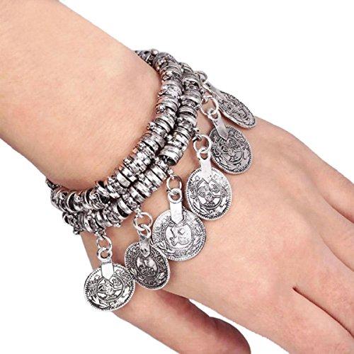 Baishitop Silver Coin Bohemian Ethnic Vintage Bracelet Anklet