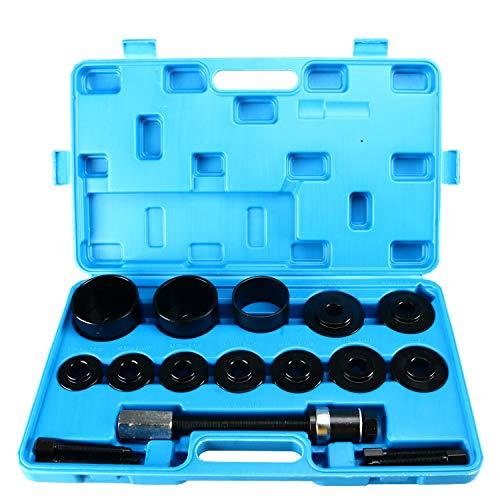 8MILELAKE 19pc Master Set Front Wheel Hub Drive Bearing Removal Install Service Tool Kit ()