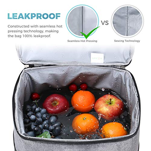 Lifewit 40L Soft Collapsible Cooler Bag Lunch Bag Box, Large Insulated Picnic Bag Travel Bag Soft-Sided Cooling Bag for Camping/BBQ/Family Outdoor Activities