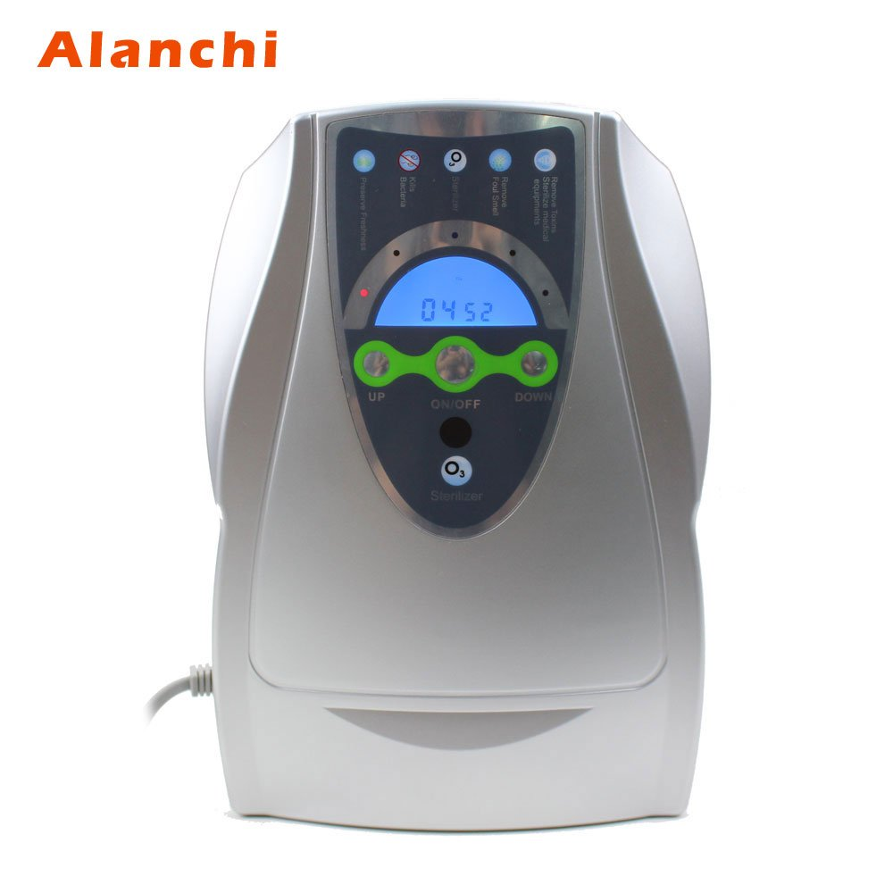 Portable Air Purifier Water Ozone Generator 110V 500mg/H Multifunctional Sterilizer Oxygen Machine for Home Vegetable Fruit Purify US plug