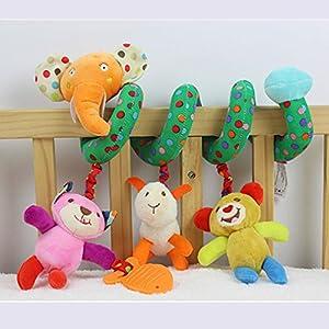 HENGSONG Activity Spiral Toys Hanging Crib Pushchair Car Seat Cot Plush Lion Elephant