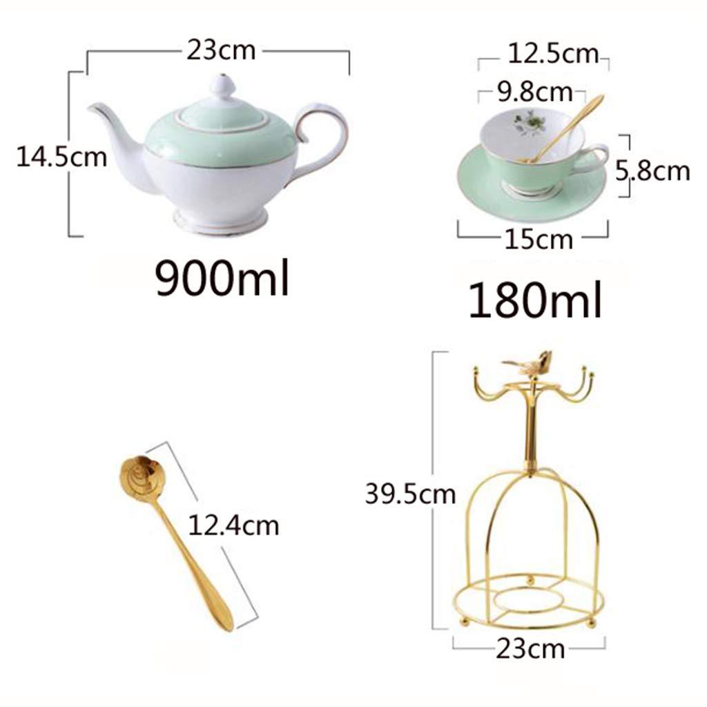 CSQ Coffee Cup Tea Set, Simple Ceramics Tea Set Meeting Room Hospitality Room Tea Set Capacity: 900ml Afternoon Tea (Color : A) by Tea set-CSQ (Image #2)
