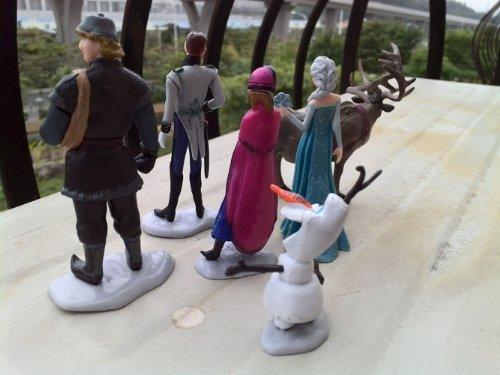 Generic 6pcs Movie Frozen Figures Toys Cake Toppers Anna Elsa Hans Kt Sven Olaf