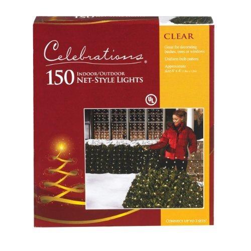 Clear Net Lights, 4' x 6', 150 Clear Net lights (Blanket Christmas Light)