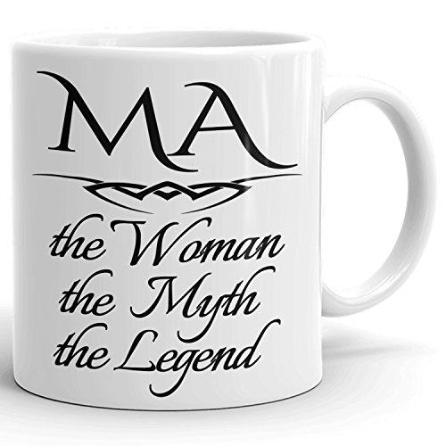 Best Personalized Womens Gift! The Woman the Myth the Legend - Coffee Mug Cup for Mom Girlfriend Wife Grandma Sister in the Morning or the Office - M Set 1