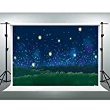 GESEN 7x5ft Cartoon Backdrops Fantastic Starry Sky Night Landscape Camping Themd Party Background Photo Booth Backdrop Studio Props GYGE251
