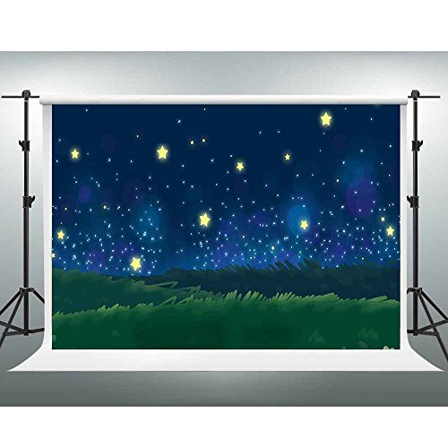 Starry Night Scene - GESEN 7x5ft Cartoon Backdrops Fantastic Starry