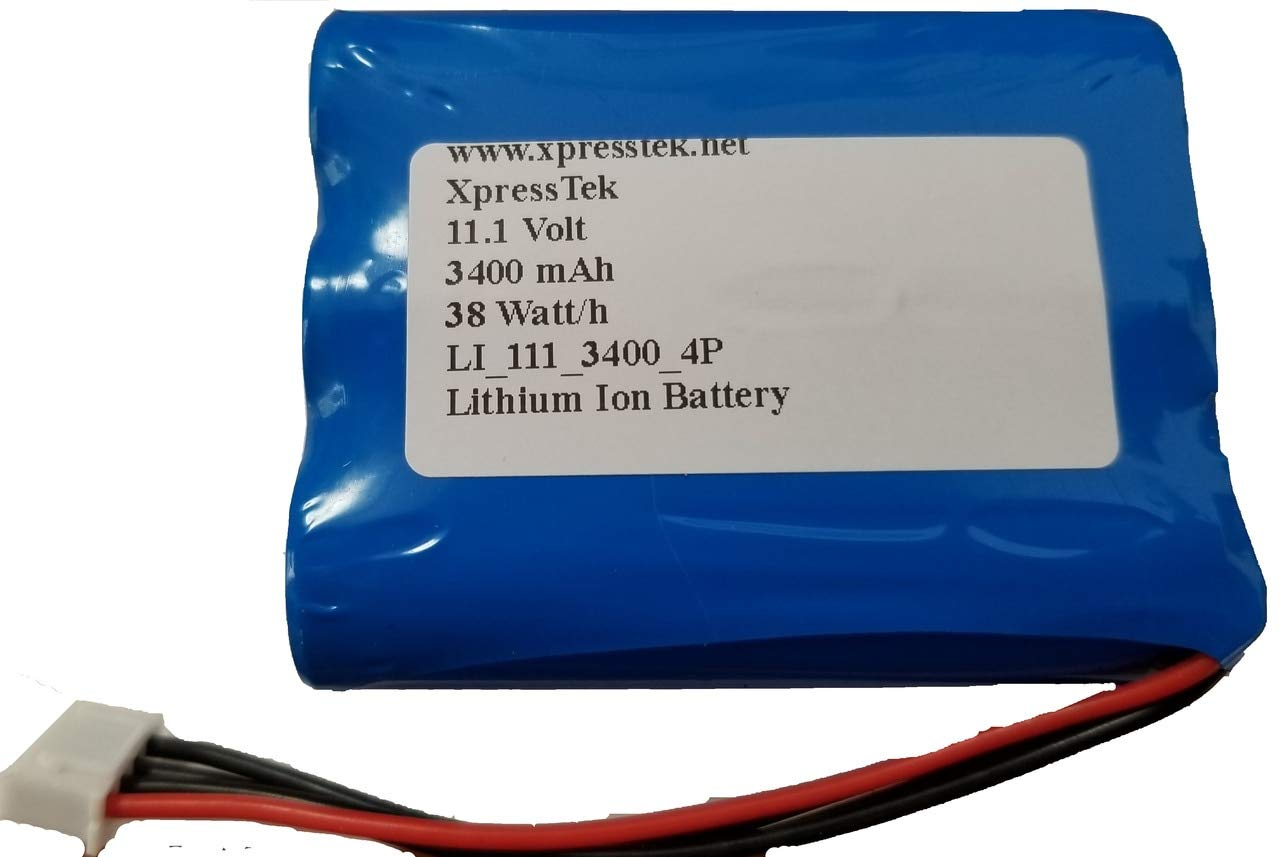3400mAh High Capacity Replacement Battery for Marshall Stockwell Speaker - 4 Pin Connector by XpressTek