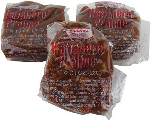 Lammes Candies Texas Chewie Habanero Pecan Pralines in Plain Box, 32 Oz