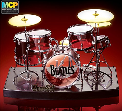 PONML 1/8 Crystal DRUM Set Pearl Single Base Miniature Model - Set Miniature Drum