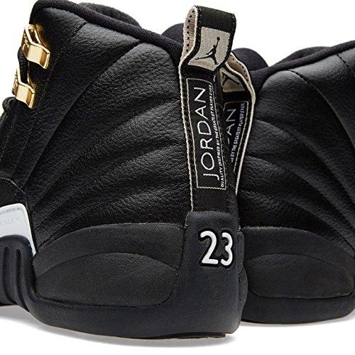 Air 12 Retro Bg di Jordan Kid, nero / oro bianco-nero-mtllc Black, White-black-metallic
