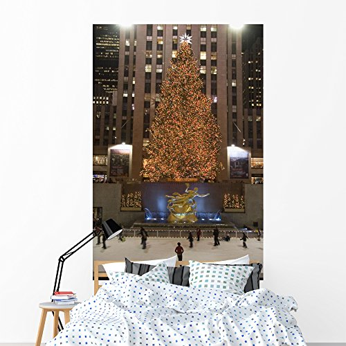 (Rockefeller Center Famous Christmas Wall Mural by Wallmonkeys Peel and Stick Graphic (72 in H x 48 in W) WM152458)