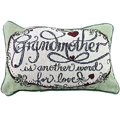 Grandmother Love Decorative Tapestry Toss Pillow Made in the USA