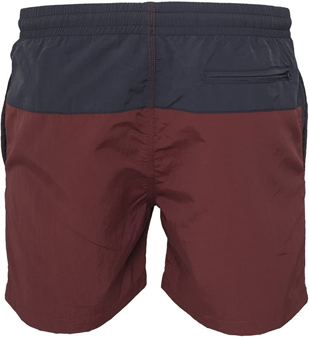 Urban Classics TB1026 Block Swim Shorts nvy//burgundy M