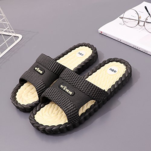 Bath Anti 43 and Home Massage Male Bathroom fankou White Slippers Men Slip Base Black Summer Slippers Soft Home Interior Cool xwqwSFRAY