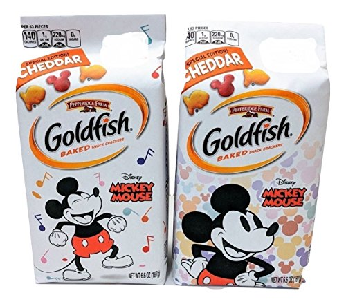 Pepperidge Farm Mickey Mouse Special Edition! Cheddar Baked Snack Crackers - 6.6oz (2 PACK) (Mickey Mouse Shaped Crackers)