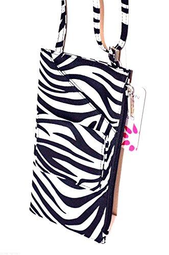 Travelon Cross Body Shoulder Travel Wallet Zebra Neck for sale  Delivered anywhere in USA