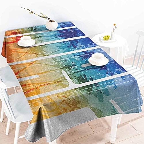 Surf,Tablecloth Factory Summer Surf Retro Letters That Reflect The Seacoast with Palm Tree Extreme Sports Art 70