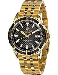 Men's Watch Majesté l'acier l'or Noir Carbone Automatic Swiss Made Analog Automatic Stainless Steel 628