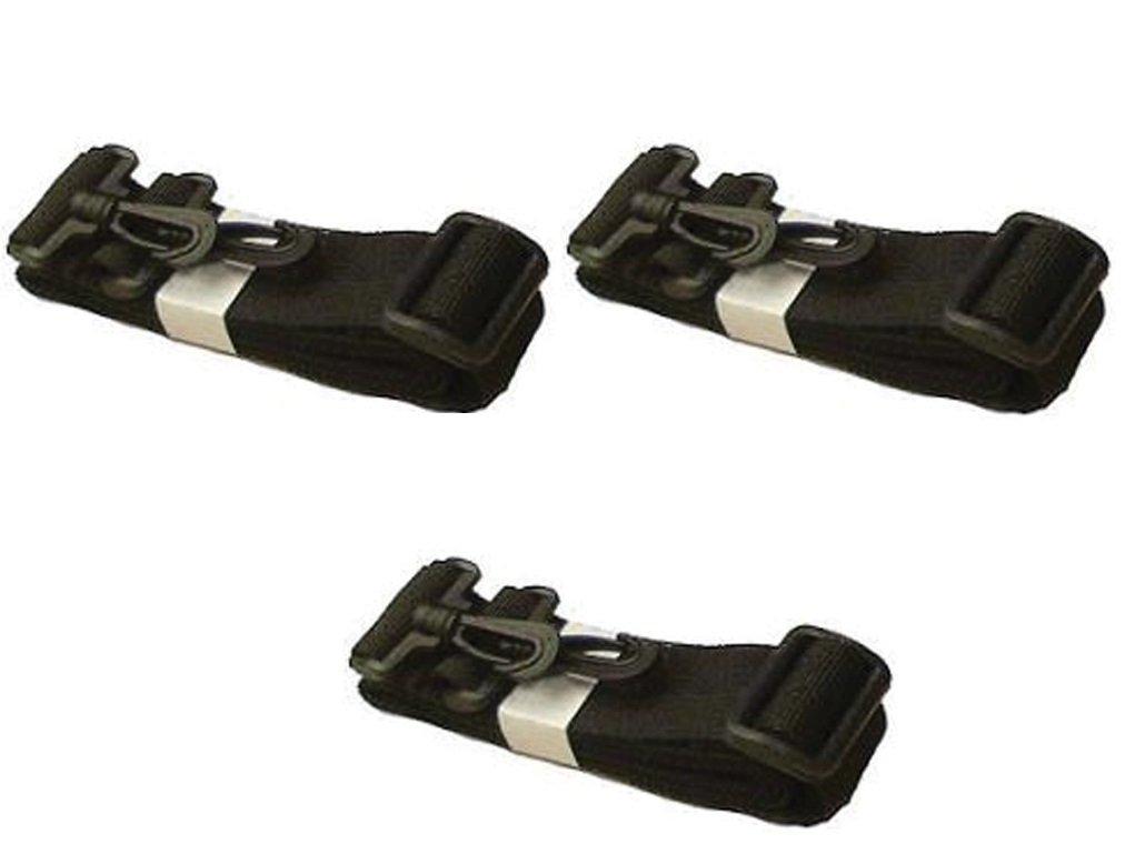 JanetBasket Shoulder Strap For Eco Bag-Black (3 Pack)