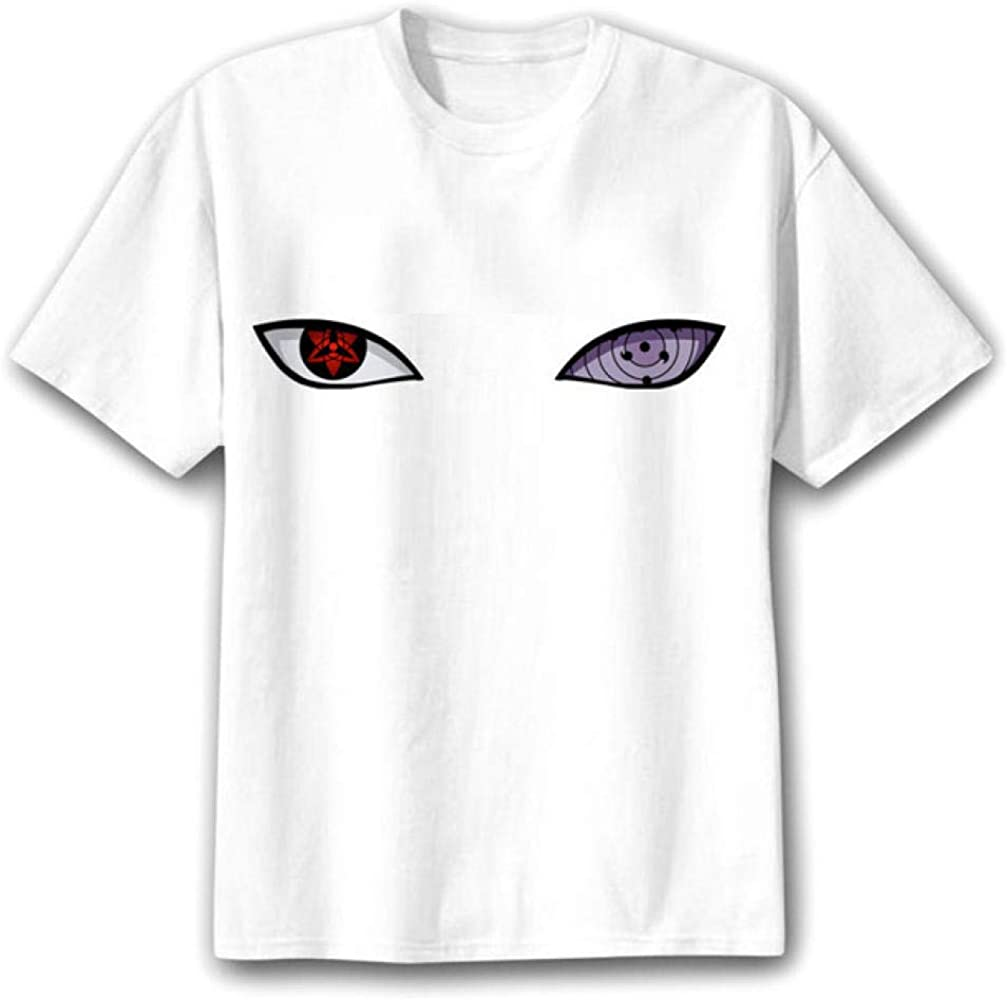 TSHIMEN Camisetas Hombre y Mujer Iguales Naruto 2019 Verano Camiseta Hombres Japón Ojos Anime FUUNY Top Camiseta Homme Camiseta Blanca s: Amazon.es: Ropa y accesorios