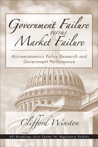 Download Government Failure versus Market Failure: Microeconomic Policy Research And Government Performance PDF