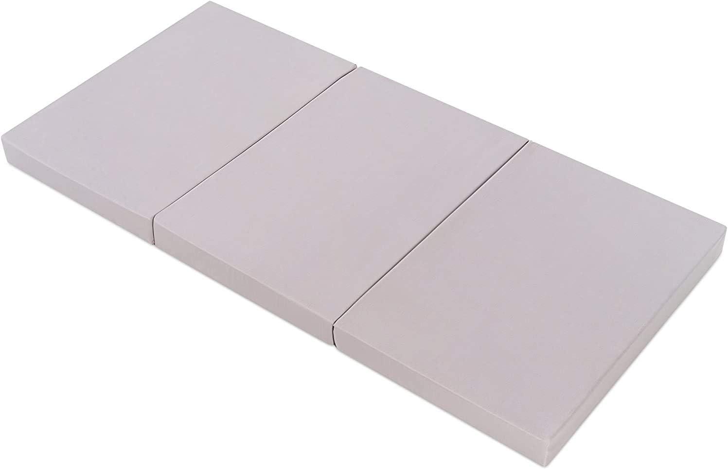 funda de algod/ón lavable Sin sustancias nocivas,colch/ón cuna de viaje plegable 120x60 cm//Altura 6 cm transpirable