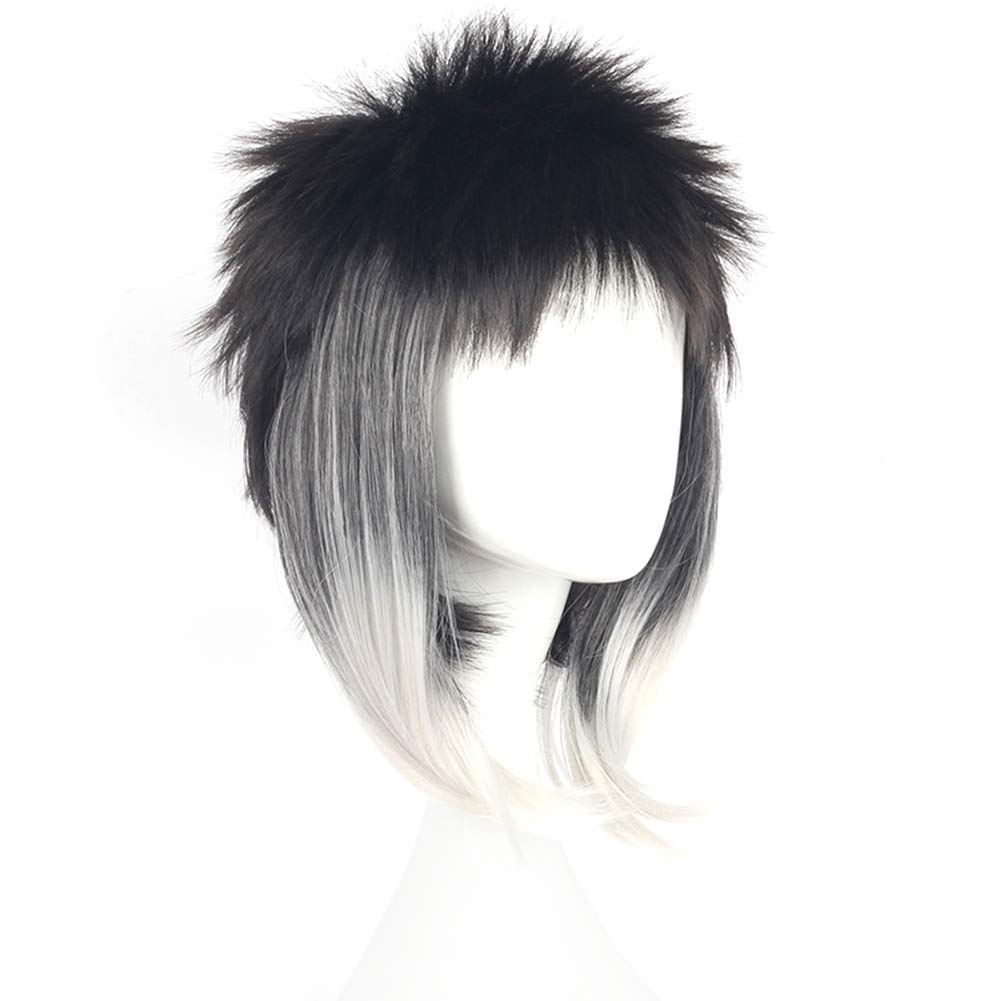 Raleighsee Stray Dogs Anime Cosplay Wig Ryunosuke Akutagawa Novelty Lengthen Gradient Color High Temperature Wire Juvenile Wig Anime Fans Gift