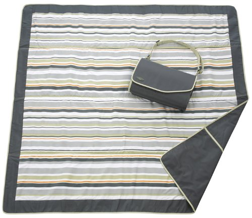 JJ Cole Outdoor Blanket,Gray/Green, 5' x 5' ()