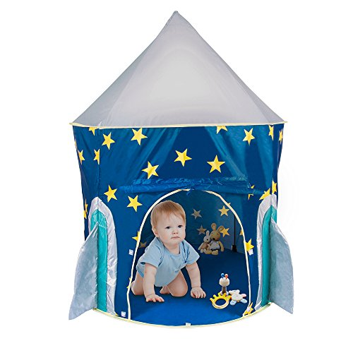 PEPECO Children Play Tent Kids Rocket Ship Indoor Playhouse - Kids Play Tent Indoor