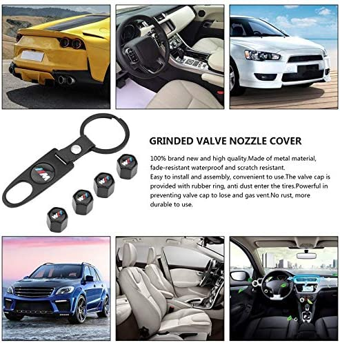 1Pc Small Wrench Anti-Theft Style Tubeless Valve Cap Appearancees Aluminum Alloy Matte Valve Cover For BMW M 4Pcs Valve Cap