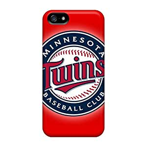 Anti-Scratch Hard Cell-phone Cases For Iphone 5/5s With Allow Personal Design Vivid Minnesota Twins Image DannyLCHEUNG