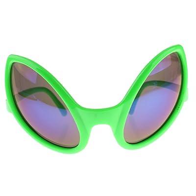 949b3227c8fe74 Sharplace Lunettes de Soirée Carnaval Lunettes Extraterrestre pour Adultes  Accessoire Déguisements Halloween - Vert