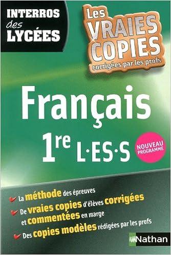 Télécharger des livres audio gratuitement Interros des Lycées Français 1re L.ES.S 2091883719 ePub by Anne Cassou-Noguès