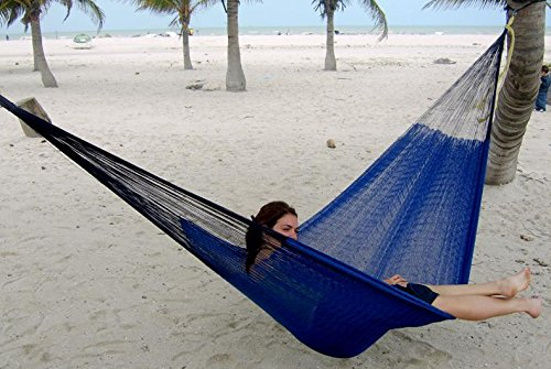Hammocks Rada- Handmade Yucatan Hammock – Matrimonial Size Dark Blue Color – True Comfort, True Quality, World's Best Handmade Hammock- 100% No-Hassle…