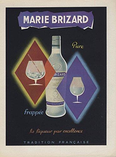 Marie Brizard Liqueur pure frappee la liqueur par excellence ad 1953 ()