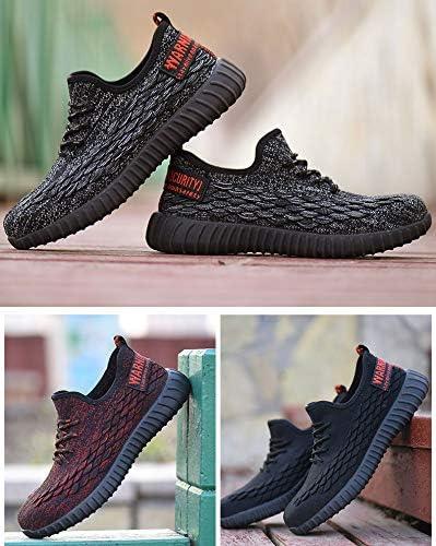 Zapatos de Trabajo con Punta de Acero Ultra Liviano Suave y c/ómodo Industriales Transpirable Zapatillas de Seguridad Hombres Hembra